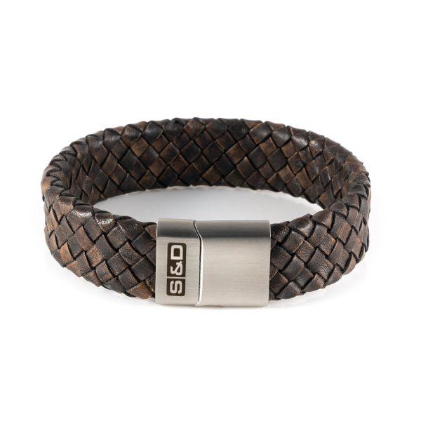presley dark vintage | leren heren armband | said&done