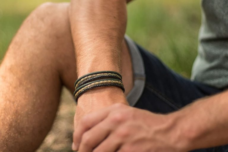 mannen armband leer