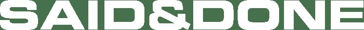 SAID&DONE logo