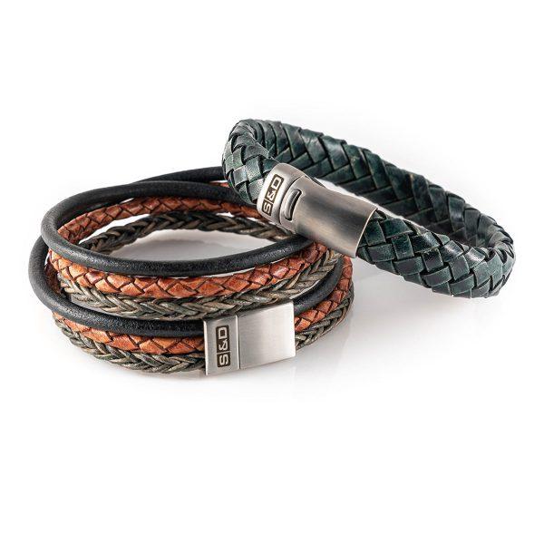 leren armband heren combinatie