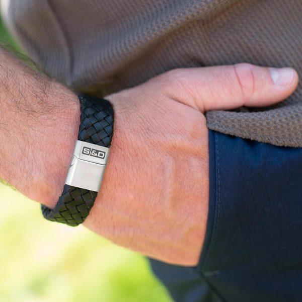 brede leren armband heren
