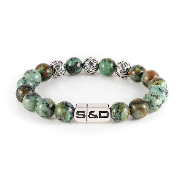 groene kralen armband