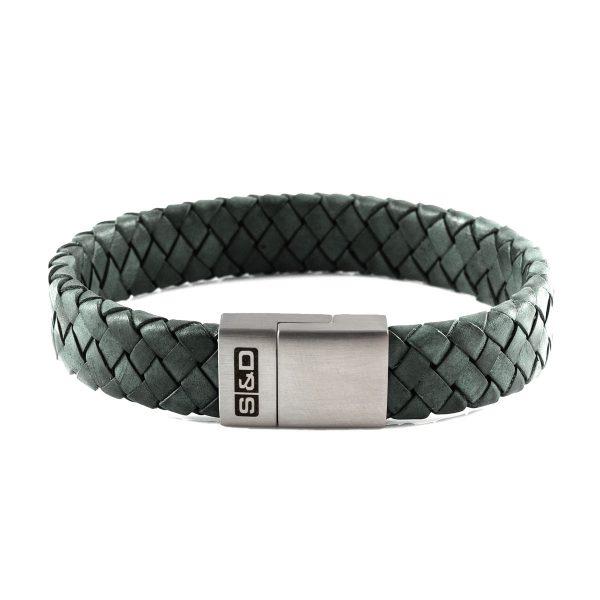 leren armband heren groen