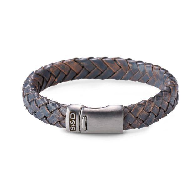 leren armband heren grijs